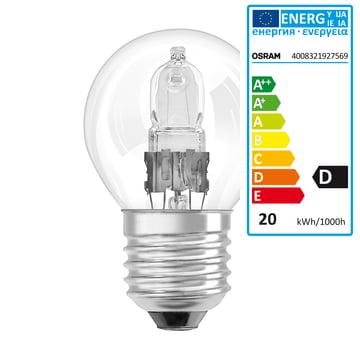 Osram Tropfen Halogen-Lampe Classic P Eco - E27