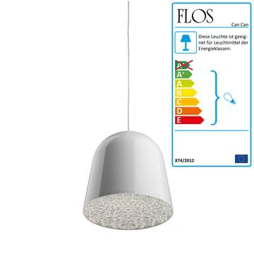 Flos - Can Can Pendelleuchte, weiß / transparent