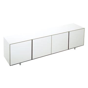 Wogg 36 Sideboard - 4 Türen, HPL weiß