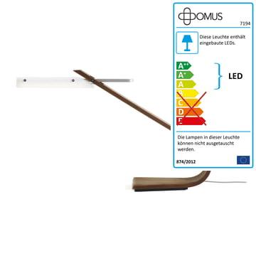 Domus - Ibis Tischleuchte LED, Nussbaum