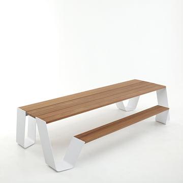 Extremis - Hopper Tisch, weiß / H.O.T. Wood