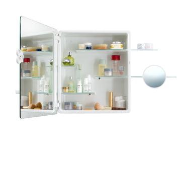 Authentics - Kali Spiegelschrank geöffnet mit femininer Ausstattung
