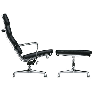 Soft Pad Chair EA 222 Sessel mit EA 223 Hocker von Vitra