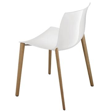 Arper - Catifa 53 Stuhl, Holzvierfußgestell, Polypropylen, weiß