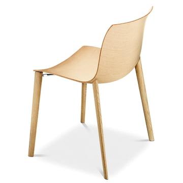 Arper - Catifa 53 Stuhl, Holzvierfußgestell