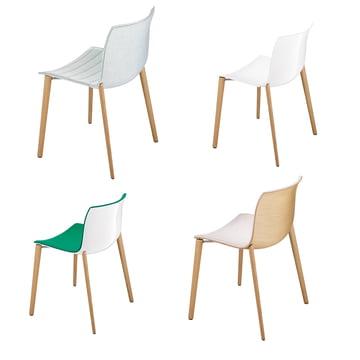 Arper - Catifa 53 Stuhl Holzvierfußgestell