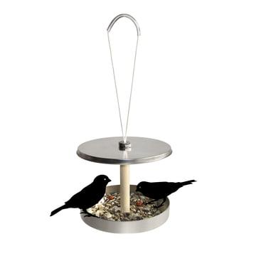 """side by side - Vogelhaus """"Birdi to go"""" - geöffnet, mit Vögeln"""