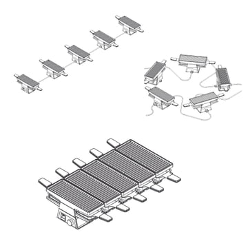 Spring - Raclette 2+ Basismodul / Erweiterungsmodul