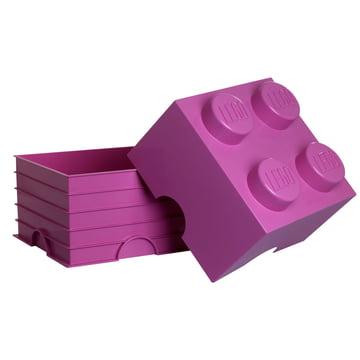 Lego - Storage Box 4, pink - offen