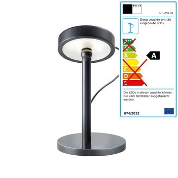 Belux - U-Turn Tischleuchte, LED, schwarz, schwarz