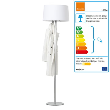Cascando - Coat Lamp, weiß