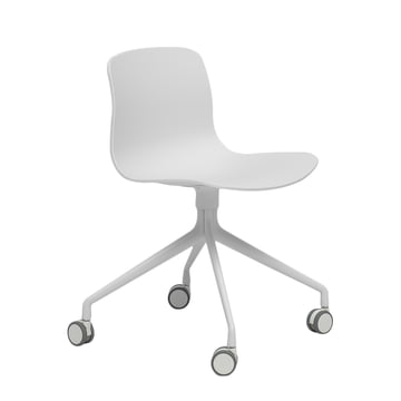 Hay - About A Chair AAC 14, Aluminium poliert weiß / weiß