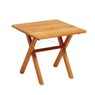 Weishäupl - Cross Table, 80 cm, Teak