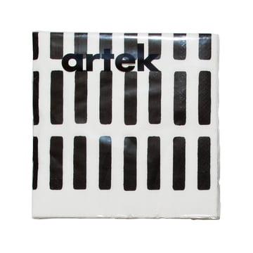 Artek - Siena Papierserviette, groß, weiß/ schwarz