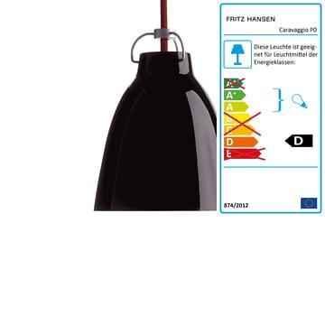 Caravaggio P0 Pendelleuchte von Lightyears in glänzend Schwarz