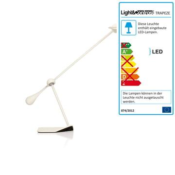 Klein & More - Trapeze LED Tischleuchte, klein weiß