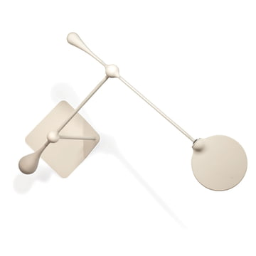 Klein & More - Trapeze LED Tischleuchte, groß, weiß - oben