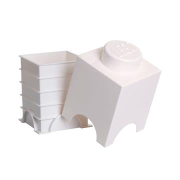 Lego - Storage Brick 1, weiß - offen