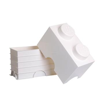 Lego - Storage Brick 2, weiß - offen
