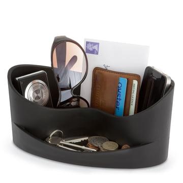 j-me - Casa Aufbewahrung, schwarz - mit Gegenständen