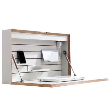 Müller Möbelwerkstätten - Flatbox, weiß - offen, Deko, Seite
