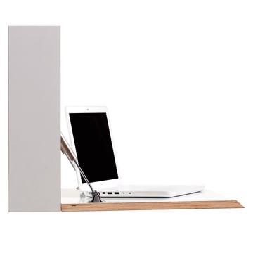 Müller Möbelwerkstätten - Flatbox, weiß - offen, Laptop, Seite