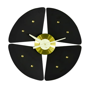 Vitra - Petal Clock, schwarz/ messing