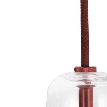 Normann Copenhagen - Ikono Pendelleuchte, rot, klein - Kabel