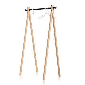 Nomess - Dress-Up Garderobenständer, Esche, schwarz, 90 cm
