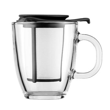 Bodum - Yo-Yo Set - Glastasse, Kunststofffilter 0.35l, schwarz