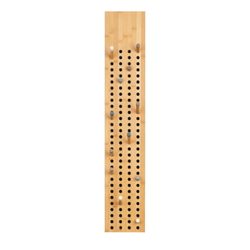 We do wood - Scoreboard Garderobe vertikal, Bambus natur