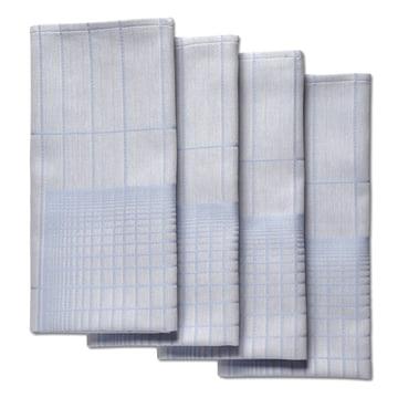 Hay - S&B Napkin Double Grid, blau - 4er-Set