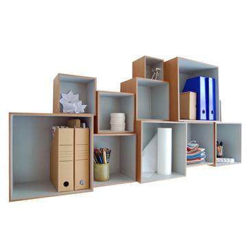 OK Design - Babushka Boxes, grau - gefüllt