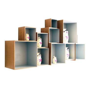 OK Design - Babushka Boxes, grau - mit Babushkas