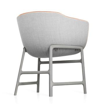 Fritz Hansen - Minuscule Stuhl, grau 123, orange 443 - hinten