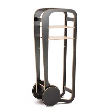 Fleimio Design - Wood Trolley, schwarz