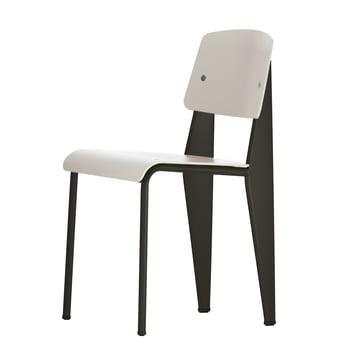Prouvé Standard SP chair von Vitra in schwarz/warmgrau