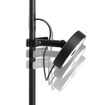 Belux - U-Turn Steh-Leseleuchte, schwarz - höhenverstellbar