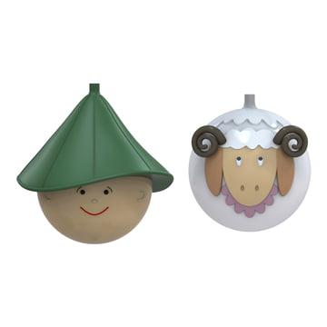 A di Alessi - Pastorello und Pecorello Weihnachtsbaumkugeln