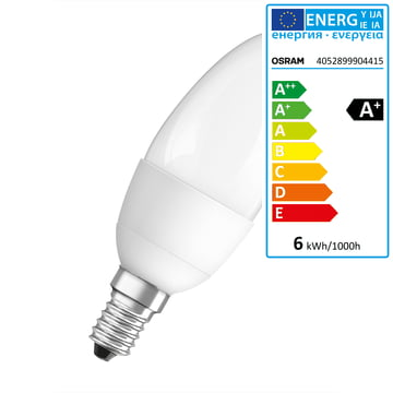 Osram - LED Supers Clas B 40 adv, E14, frosted