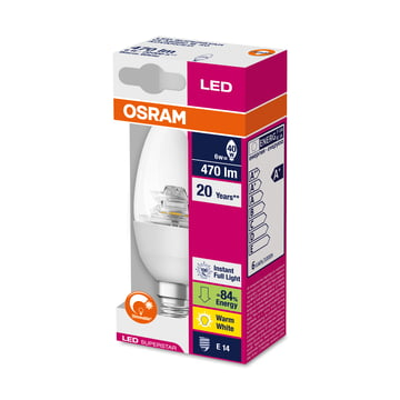 Osram - LED Supers Clas B 40 adv, E14, clear sparkling - Verp.