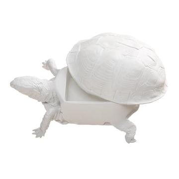 Areaware - Turtle Box, weiß - offen