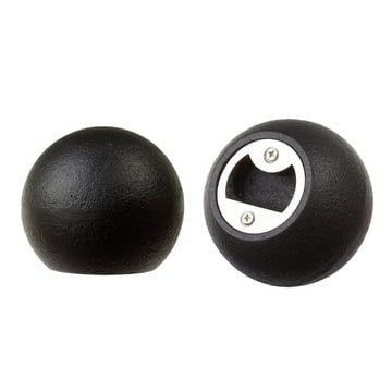 Areaware - Sphere Flaschenöffner, Eisen schwarz - Seiten