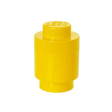 Lego - Storage Brick 1 Round, gelb
