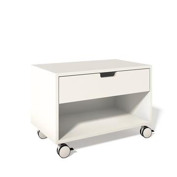 Nachttischschrank von Müller Möbelwerkstätten in Weiß