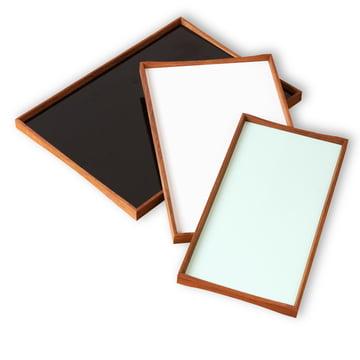 ArchitectMade - Tablett Turning Tray, schwarz, weiß, grün