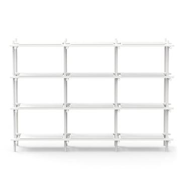 Menu - Stick System, Regal, weiß / weiß, 3 x 4