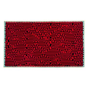 Zuzunaga - Barcelona 1 Wolldecke, rot / schwarz
