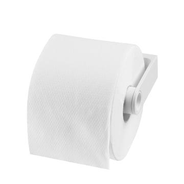 Authentics - Lunar Toilettenpapierhalter, weiß - mit Papier
