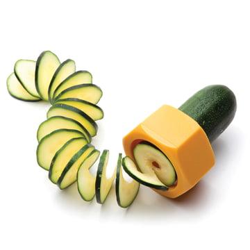 Monkey Business - Cucumbo Gemüseschneider, gelb - mit Zucchini